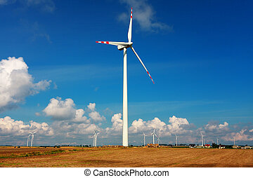 Wind turbines, alternative energy