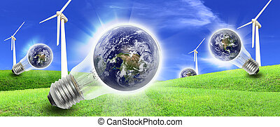 Wind turbines farm energy production to the world