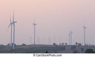 Wind turbines generating electricit