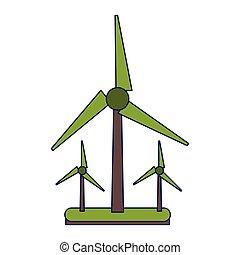 Wind turbines green energy