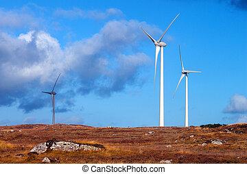 Wind Turbines in a bleak rural setting