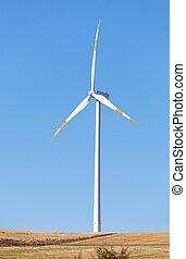 Wind Turbines - Wind turbines in operation in the summer...