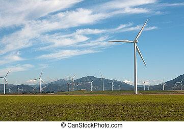Wind turbines - Wind Turbines in Andalucia, Spain