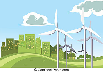 Wind turbines power