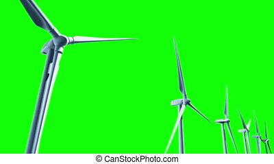 Wind Turbines, seamless Loop.