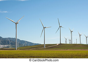 Wind Turbines in Andalucia, Spain