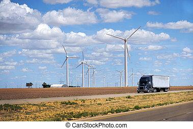 Wind Turbines - Wind turbines in Sweetwater ,Texas. The new...