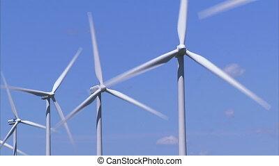 Wind Turbines - Row of wind turbines