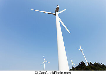 Wind Turbines with blue sky