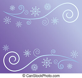 wind, und, schnee