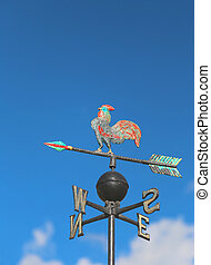 wind vane for measuring wind direction with a big cock