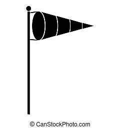 Wind vane icon, simple style - Wind vane icon. Simple...