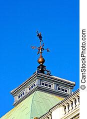Wind vane - Wind wane on top of the building
