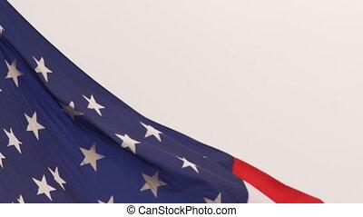 Wind Waving Bright Patriotic American Flag Stars and Stripes...