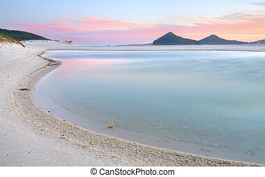 Winda Woppa Lagoon at sunset - The views south east across...