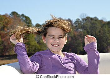 Windblown Girl
