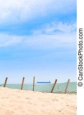 Windbreaker Fence at the Beach