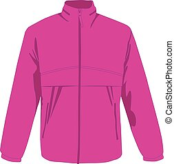 Windcheater pink realistic vector illustration isolated