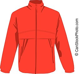 Windcheater red realistic vector illustration isolated