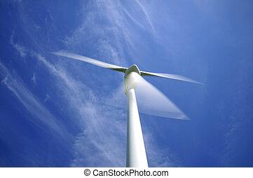 Windenergieanlage in Bewegung