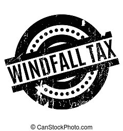 Windfall Tax rubber stamp. Grunge design with dust...