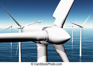 Windfarm in the Sea