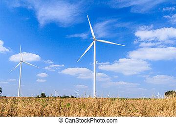 windgeneratoren, begriff, energie, sauber