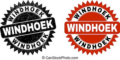 WINDHOEK Black Rosette Watermark with Scratched Texture