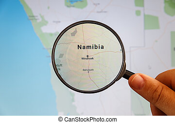 Windhoek, Namibia. Political map.