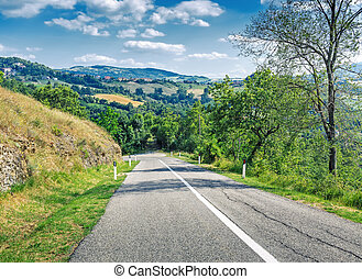 country road in the hills