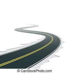 Winding road - Vector illustration of a winding road
