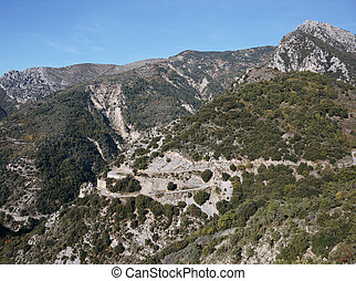Winding road in the Alpes-Maritimes