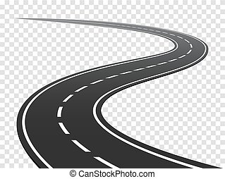 Winding road. Journey traffic curved highway.