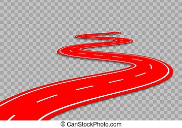 Winding Road on a transparent Backgroundte - Winding Road on...
