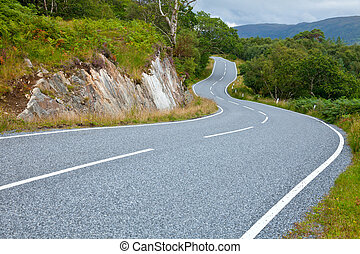 Winding road - Scenic winding road in Scotland