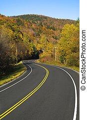 Winding scenic highway