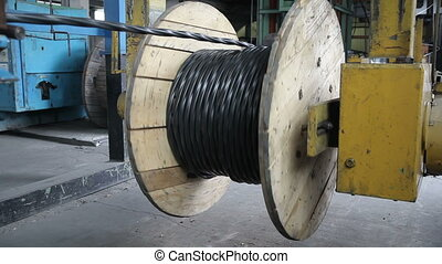Winding the cable onto the reel - Winding of the electrical...