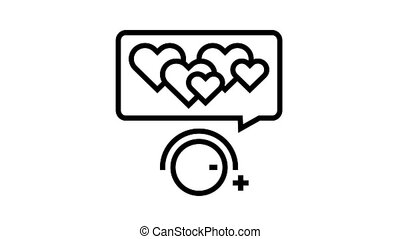 winding up likes animated black icon. winding up likes sign. isolated on white background