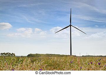 windkraftwerke, farm., alternative energie, source.
