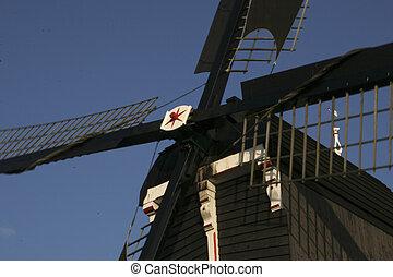 windmühle, arbeitende