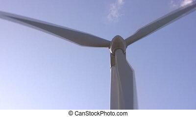 windmühle, blauer himmel