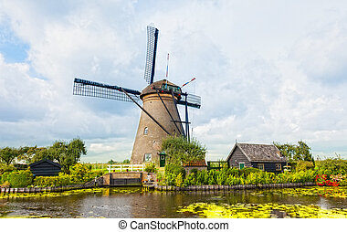 windmühle, kinderdijk, netherlands