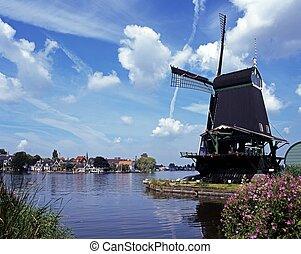 windmühle, zaanse schans, holland.
