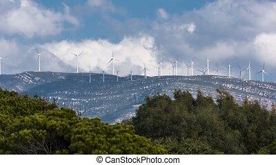 windmühlen, fehler, lose, andalusien, zeit, tarifa, spanien