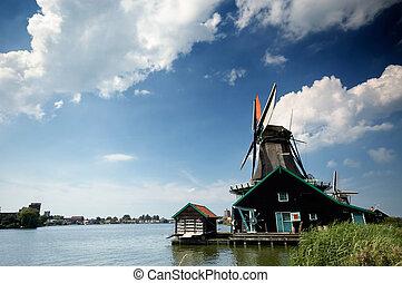 windmil llandscape - beautiful windmil llandscape in the...