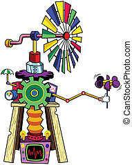 Windmill - A colorful, wacky whirligig that perfectly...
