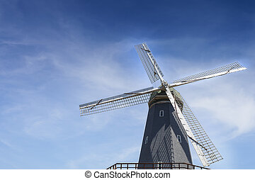 Windmill and Blue Sky at Golden Gate Park in San Francisco, ...