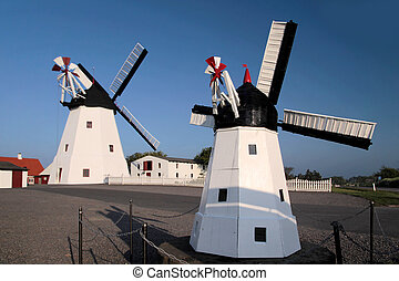 Windmill and model of a windmill