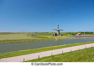 Windmill at Dutch island Texel