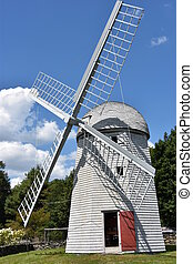 Windmill at Jamestown Historical Society in Rhode Island